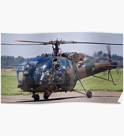 Sud Aviation SE-316B Alouette III Helicopter - SAAF 628 Poster
