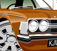 Ford Cortina mk 3 from Life on Mars Sticker