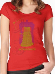 Dalek EXTERMINATE Fade Shirt Women's Fitted Scoop T-Shirt