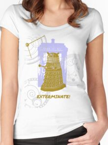 Dalek EXTERMINATE Fade Shirt Women's Fitted Scoop T-Shirt
