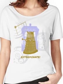 Dalek EXTERMINATE Fade Shirt Women's Relaxed Fit T-Shirt