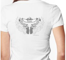 ladies wings Womens Fitted T-Shirt