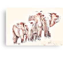 Animals Of The Rainbow Elephants Canvas Print