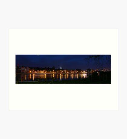 Deventer, Dutch City @ the IJssel River Art Print