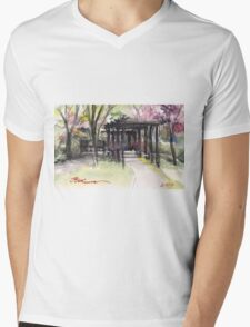 Maxell's Cherry Gardens. Telford, Shropshire, England Mens V-Neck T-Shirt