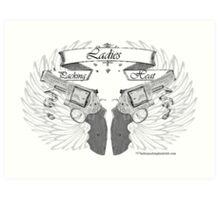 ladies wings up Art Print