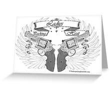 ladies wings up Greeting Card
