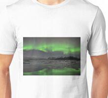 Aurora Borealis - Jokulsarlon Glacial Lagoon, Iceland Unisex T-Shirt