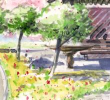 Spring in Maxell Cherry Gardens Sticker
