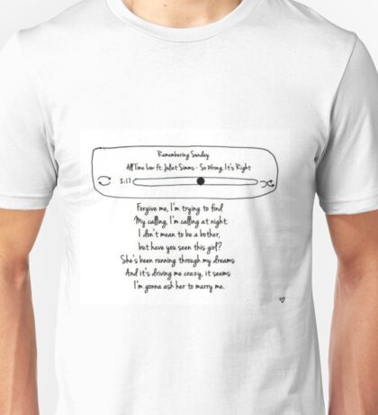 Remembering Sunday Unisex T-Shirt