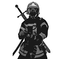 dragon fire fighter Photographic Print