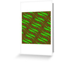I Want an Iguana - Pattern Greeting Card
