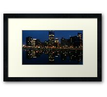 REFLECTIONS OF PITTSBURGH Framed Print