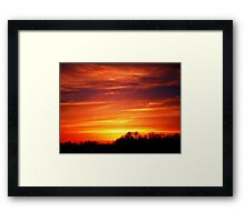 golden hour time Framed Print