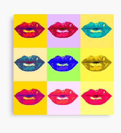 Pop Kiss Canvas Print