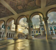 Aisle of Samarinda Mosque.. by bartmaskphoto