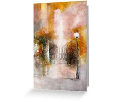 oldtown in fall  * special order prints: tokikoandersonart@gmail.com Greeting Card