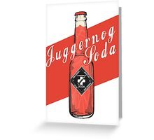 Juggernog Soda - Poster Greeting Card