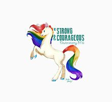 Be Strong and Courageous Rainbow Heavenly Horse Unisex T-Shirt