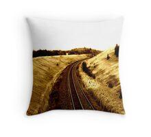 Electric Train. Throw Pillow
