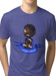 Chibi Demoman BLU Tri-blend T-Shirt