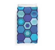 Blue Matrix Duvet Cover