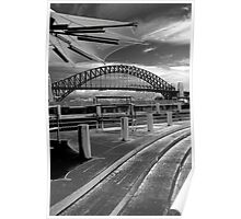 Harbour bridge in monochrome. Poster