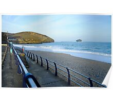 Seaside: Portreath Beach Cornwall Poster