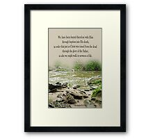 Walk in Newness of Life ~ Romans 6:4 Framed Print