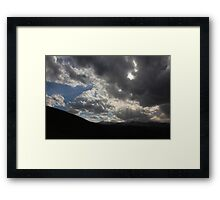 Growing darkness Framed Print