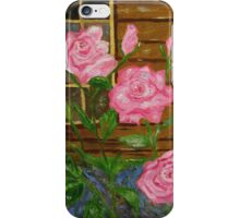 Royal Roses, pink flowers, impressionism art iPhone Case/Skin