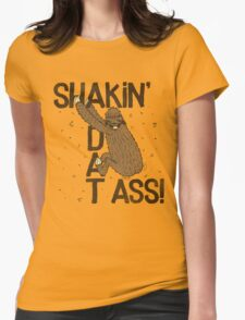 PARTY SLOTH CAME TO DANCE!! Womens Fitted T-Shirt