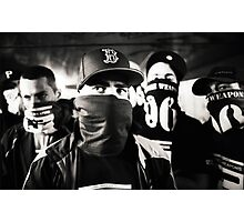 Rap hiphop gangsters black and white analog silver gelatin photo Photographic Print