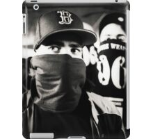 Rap hiphop gangsters black and white analog silver gelatin photo iPad Case/Skin