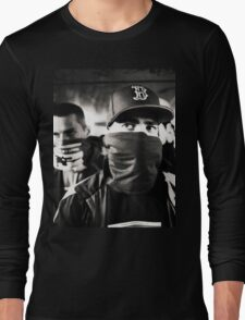 Rap hiphop gangsters black and white analog silver gelatin photo Long Sleeve T-Shirt
