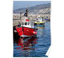Lyme Regis Harbour 6 - April Poster