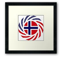 Norwegian American Multinational Patriot Flag Series Framed Print