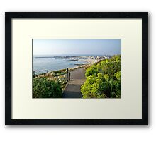 Harbour Overview From The Gardens Framed Print