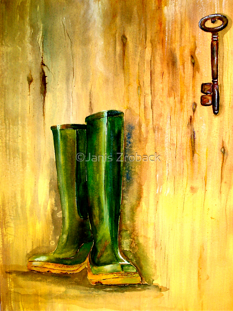 Still Life with  Wellingtons by ©Janis Zroback
