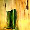 Still Life with  Wellingtons by  Janis Zroback