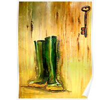 Still Life with  Wellingtons Poster