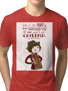 Fourth Doctor Quote Tri-blend T-Shirt