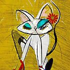 Rockin the Daisy Dukes: Retro Cat Mid Century Modern, Alma Lee by Alma Lee