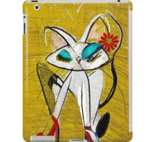 Rockin the Daisy Dukes: Retro Cat Mid Century Modern, Alma Lee iPad Case/Skin