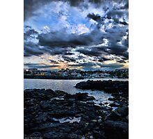 Tramonto al porto di Ognina Photographic Print