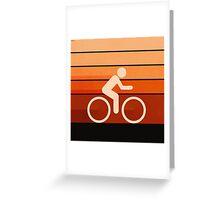 Biking Orange Greeting Card