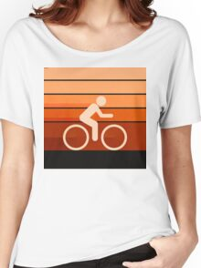 Biking Orange Women's Relaxed Fit T-Shirt