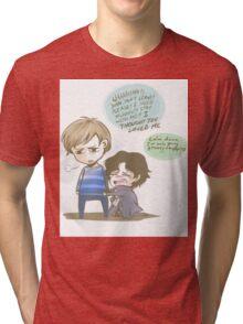 Sherlock is a Drama Queen Tri-blend T-Shirt