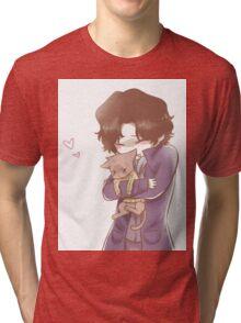 Sherlock and John Cat Tri-blend T-Shirt
