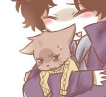 Sherlock and John Cat Sticker